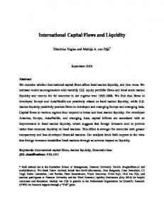 International Capital Flows and Liquidity