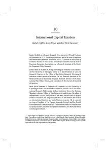International Capital Taxation