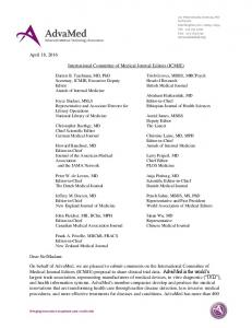 International Committee of Medical Journal Editors (ICMJE)