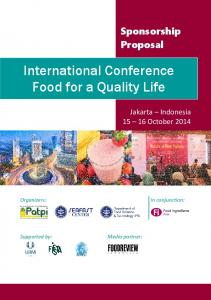International Conference Food for a Quality Life