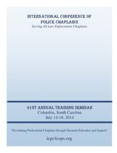 INTERNATIONAL CONFERENCE OF POLICE CHAPLAINS Serving All Law Enforcement Chaplains