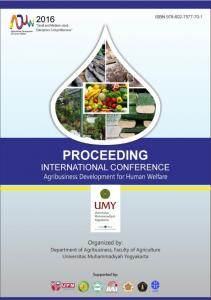 INTERNATIONAL CONFERENCE ON AGRIBUSINESS DEVELOPMENT FOR HUMAN WELFARE 2016