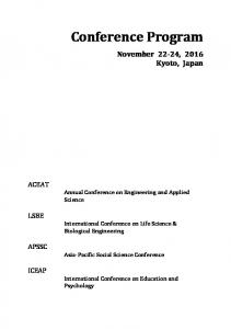 International Conference on Life Science & Biological Engineering. Asia-Pacific Social Science Conference