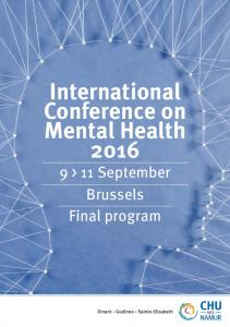 International Conference on Mental Health > 11 September Brussels Final program