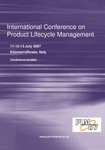 International Conference on Product Lifecycle Management