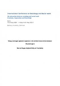 International Conference on Sociology and Social work