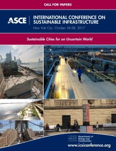 INTERNATIONAL CONFERENCE ON SUSTAINABLE INFRASTRUCTURE