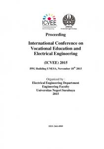 International Conference on Vocational Education and Electrical Engineering