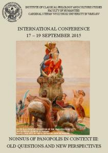 INTERNATIONAL CONFERENCE SEPTEMBER 2015