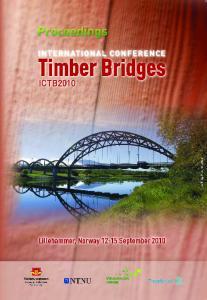 International Conference Timber Bridges