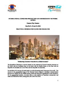 INTERNATIONAL CONSUMER PROTECTION AND ENFORCEMENT NETWORK (ICPEN) Panama City, Panama. May 20, 21, 22 and 23, 2014