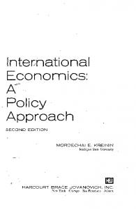 International Economics: