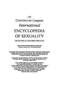 International ENCYCLOPEDIA OF SEXUALITY