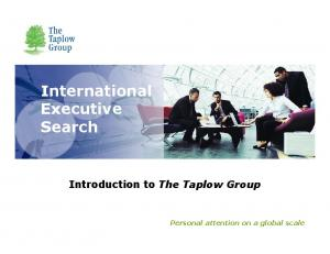 International Executive Search