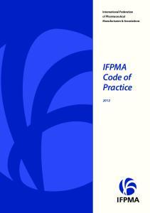 International Federation of Pharmaceutical Manufacturers & Associations. IFPMA Code of Practice