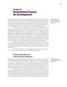 International finance for development