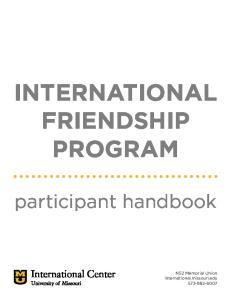 INTERNATIONAL FRIENDSHIP PROGRAM