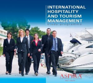 INTERNATIONAL HOSPITALITY AND TOURISM MANAGEMENT