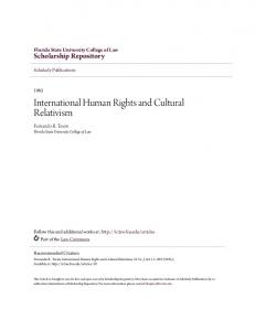 International Human Rights and Cultural Relativism