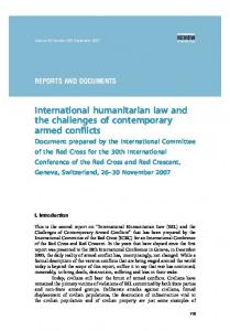 International humanitarian law and the challenges of contemporary armed conflicts