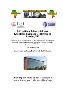 International Interdisciplinary Knowledge Exchange Conference in London, UK
