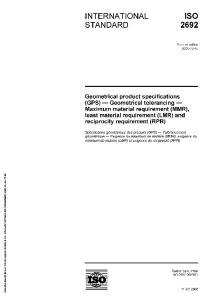 INTERNATIONAL ISO STANDARD 2692