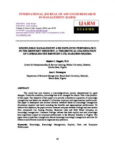 INTERNATIONAL JOURNAL OF ADVANCED RESEARCH IN MANAGEMENT (IJARM)