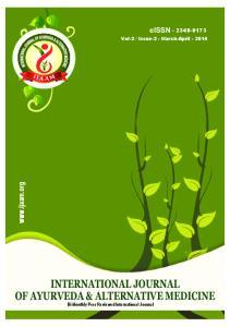 INTERNATIONAL JOURNAL OF AYURVEDA & ALTERNATIVE MEDICINE