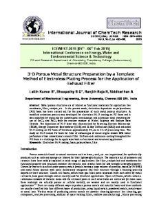 International Journal of ChemTech Research
