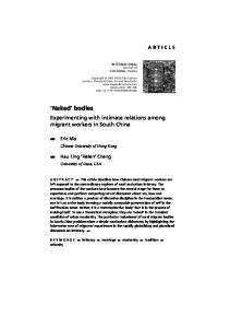 INTERNATIONAL journal of CULTURAL studies