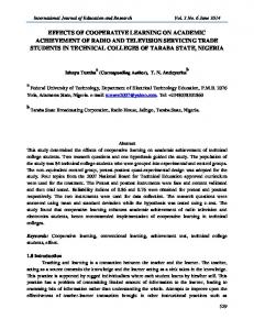 International Journal of Education and Research Vol. 2 No. 6 June 2014