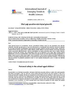 International Journal of Emerging Trends in Health Sciences