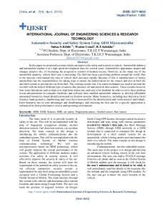 INTERNATIONAL JOURNAL OF ENGINEERING SCIENCES & RESEARCH TECHNOLOGY