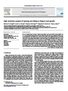 International Journal of Fatigue