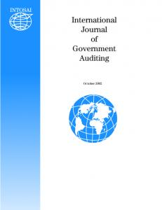 International Journal of Government Auditing. October 2002