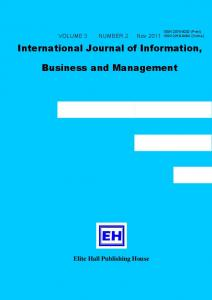 International Journal of Information, Business and Management
