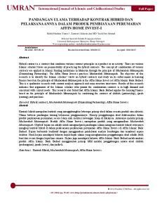 International Journal of Islamic and Civilizational Studies