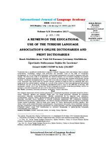 International Journal of Language Academy
