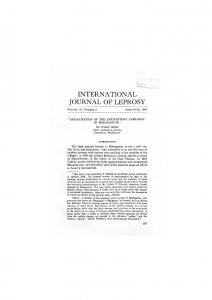 INTERNATIONAL JOURNAL OF LEPROSY