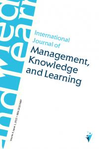 International Journal of. Management, Knowledge and Learning