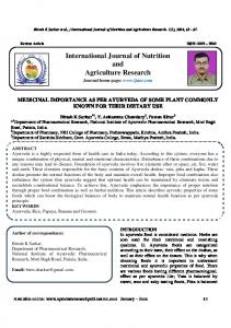 International Journal of Nutrition and Agriculture Research