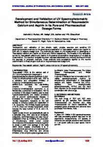 INTERNATIONAL JOURNAL OF PHARMACEUTICAL AND CHEMICAL SCIENCES