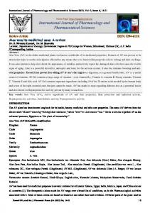International Journal of Pharmacology and Pharmaceutical Sciences 2015; Vol: 2, Issue: 6, 16-21
