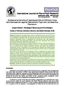 International Journal of PharmTech Research