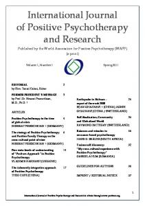 International Journal of Positive Psychotherapy and Research