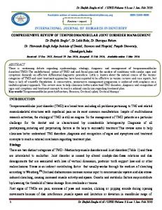 INTERNATIONAL JOURNAL OF RESEARCH IN DENTISTRY