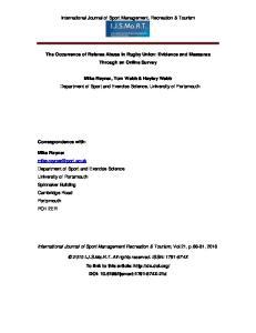 International Journal of Sport Management, Recreation & Tourism