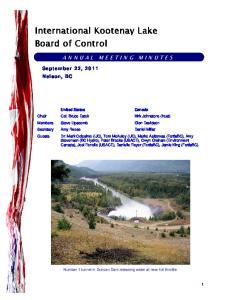 International Kootenay Lake Board of Control
