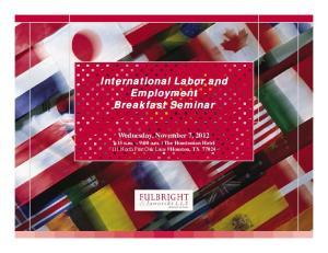 International Labor and Employment Breakfast Seminar