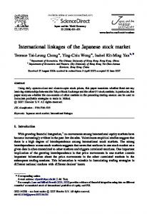 International linkages of the Japanese stock market